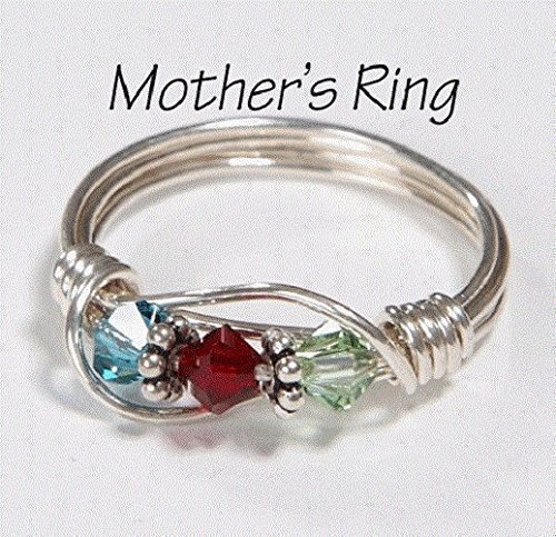 3 Stone Mother S Birthstone Ring Personalized Sterling