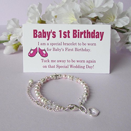 Babys 1st Birthday Gift Bracelet Baby To BrideR Growing With