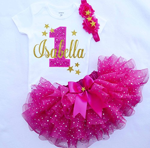 1st Birthday Outfit Girl.First Birthday Outfit Girl Hot Pink Gold Girl Cake Smash Outfit Twinkle Twinkle Little Star Birthday Outfit Personalized 1st Birthday Dress
