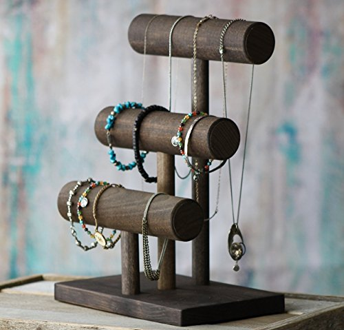 Diy 3 Tier Jewelry Stand: Three Tier/Solid Wood T-Bar