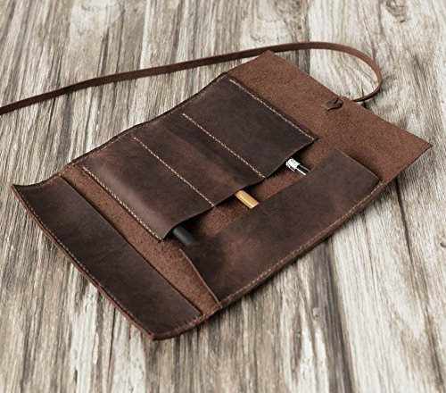 Personalized Leather Pencil Case Roll Pen Case Tool Roll