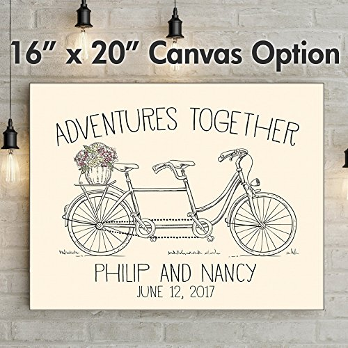 """Perfect Wedding Gift For Bride: """"Adventures Together"""""""
